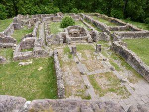 Blick über die Klosteranlage vom Nordturm