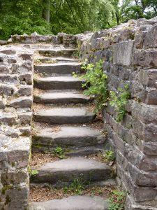 Treppe vom Calefaktorium zum darüber liegenden und damit mitgewärmten Dormitorium (Schlafsaal)