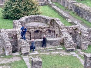 Aufnahmen im Kloster