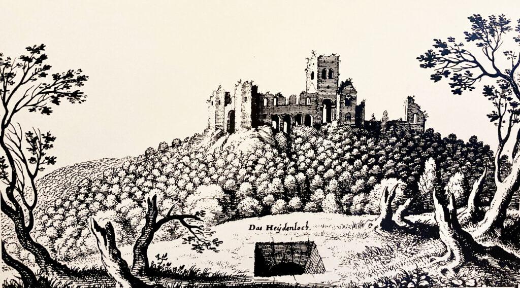Heidenloch und Michaelskloster. Merian 1645