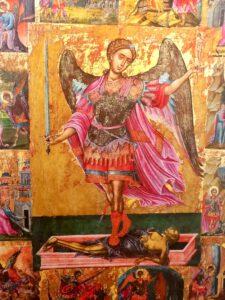 St.Michael als Seelengeleiter (Griechisch-orthodoxe Ikone aus Kreta)