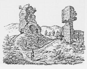 Die Türme des Klosters als Steinbruch nach einer Zeichnung von Ph. Förster 1830